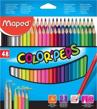Maped crayon de couleur Color'Peps 48 crayons