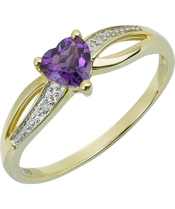 Buy Amy 9ct Gold Diamond Heart Ring at Argos Your line