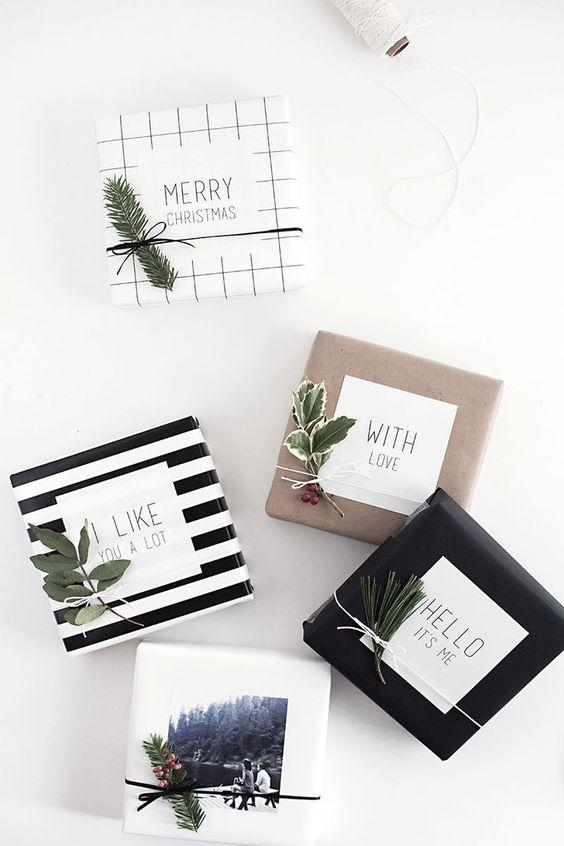 Geschenkanhänger, Wraps and Geschenke Einpacken on Pinterest