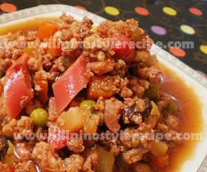 Pinoy pork picadillo recipe