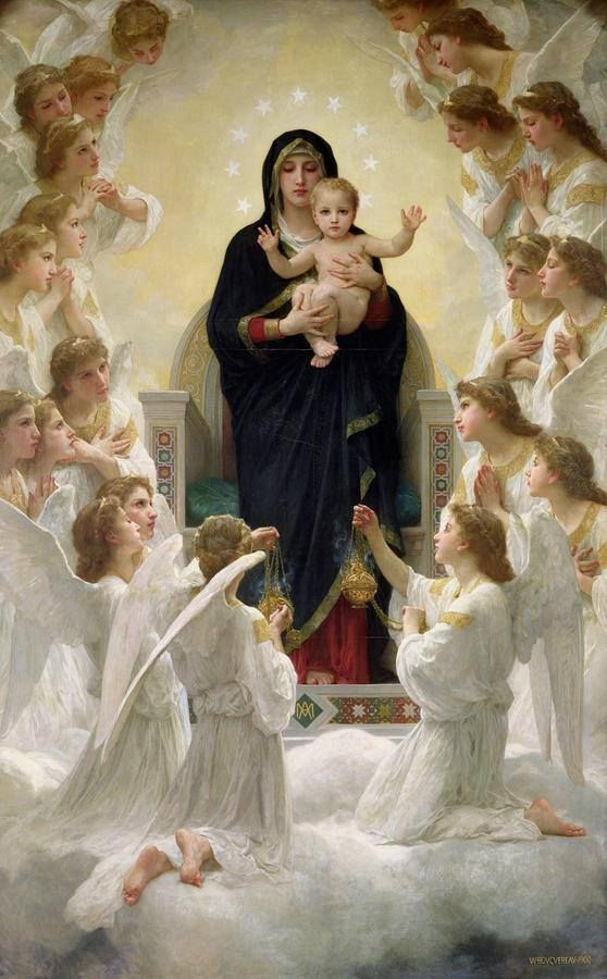 The Virgin with Angels, William-Adolphe Bouguereau, 1900.: