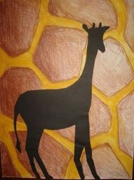 Klinkers in Beeld: Silhouet van giraffe