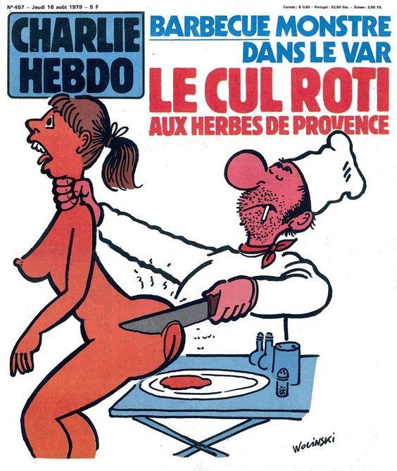 Charlie Hebdo - # 457 - 16 Août 1979 - Couverture : Wolinski