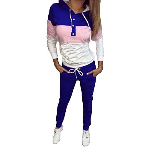Para Mujer Chándal Pantalones Sudadera Con Capucha 2Pcs Conjunto Jogging Ropa deportiva Pantalones informal Traje