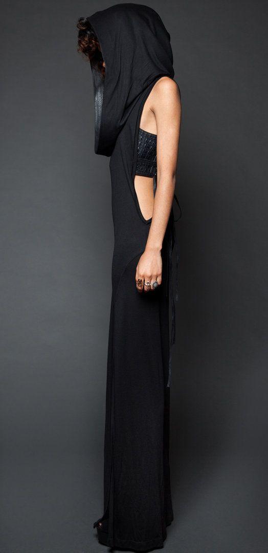 Lip Service Badlands Modal Rayon Jersey Cowl Neck Hoodie Dress