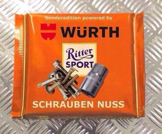 Schrauben Nuss (Würth Edition) | RITTER SPORT - Fun ...