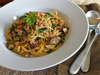 Smoked Oysters Rockefeller Pasta