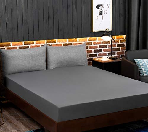 """16/""""//40CM Extra Deep Mattress Cover Bed Fitted Sheet Brushed Microfiber King Size"""