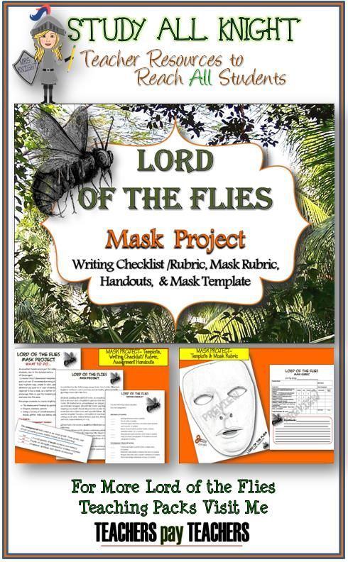 lord of the flies mask project the mask the fly and student. Black Bedroom Furniture Sets. Home Design Ideas