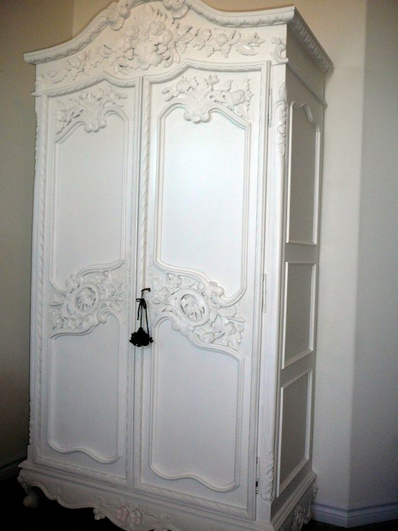Lovely French armoire arrived today! A little paint and gilt and it will come to life.