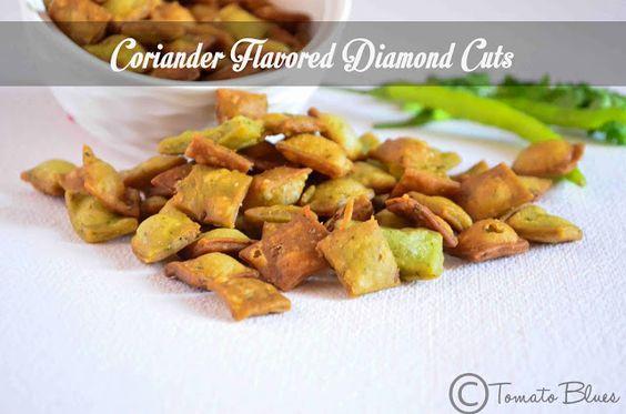Koriander Diamant schneidet Rezept | Diwali Snack-Rezepte