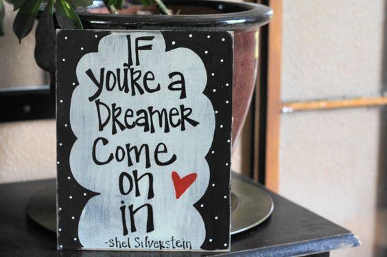 dreamer shel silverstein handmade card. $14.95, via Etsy.