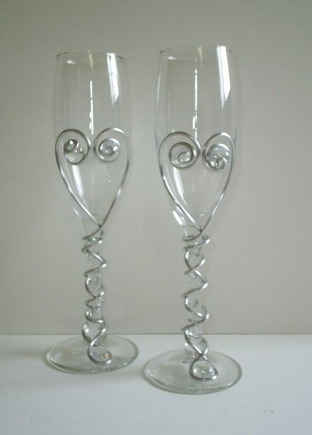 Pinterest the world s catalog of ideas - Funky champagne flutes ...