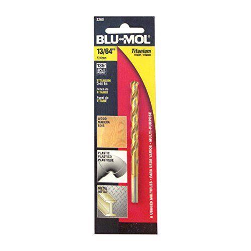 Daimeter 13//64-Inch Disston E0102622 Carded Blu-Mol Titanium Jobber Drill Bits