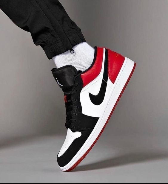 Air Jordan1 low X black and Red X Custom in 2021 | Sneakers men ...