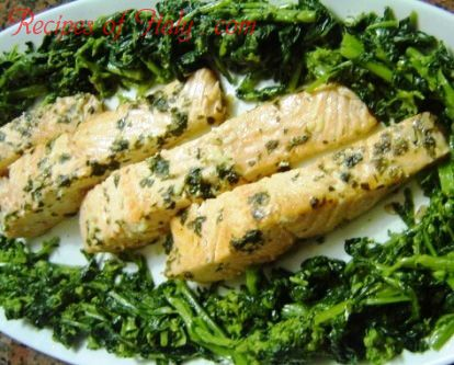 Traditional Italian Pan-Roasted Salmon with Broccoli Rabe ...