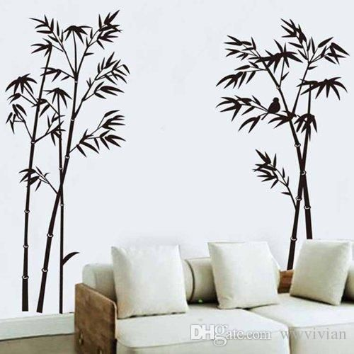 Image Result For Graphic Bamboo Mural Wall Stickers Bedroom Wall Stickers Living Room Wall Decor Stickers Living room background wall sticker