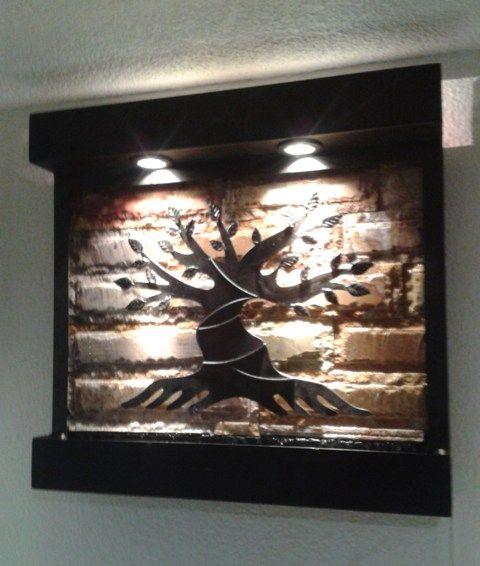 Hermosa fuente de pared con rbol de la vida sus medidas - Fuente de pared ...
