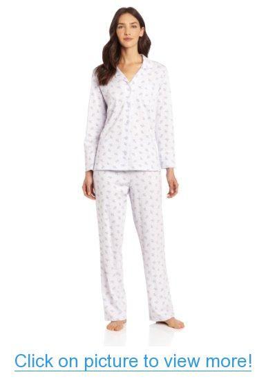 Carole Hochman Women's Notch Pajama Set