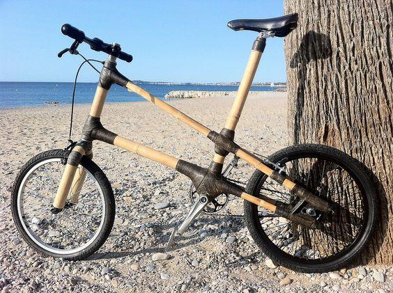 Handmade mini velo bambou by Xavier de Lagarde