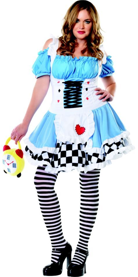 adult plus size miss wonderland costume - party city | halloween