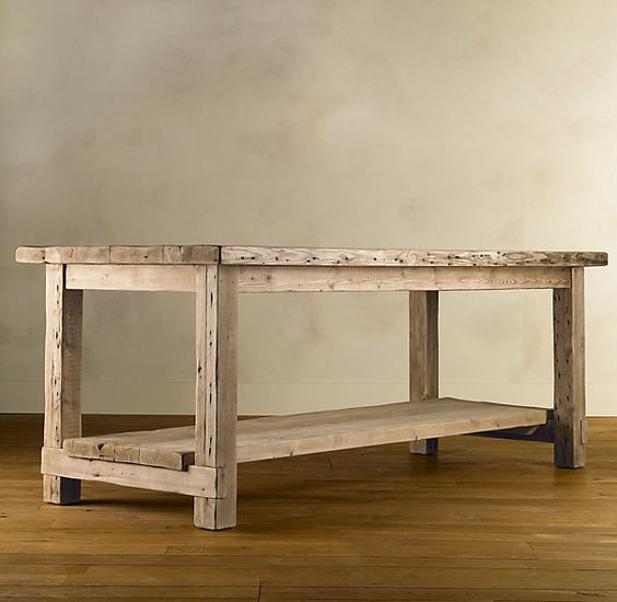 superior Restoration Hardware Kitchen Island #7: Salvaged Wood Kitchen Islands | Bar Tables | Restoration Hardware
