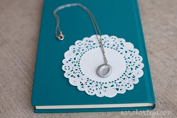 This is so cute, it's a fingerprint necklace! This website tells you all sorts of cute and cheap things you can make!