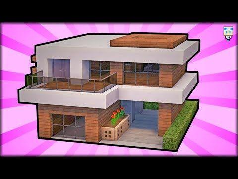 Tuto Maison Moderne Facile A Faire Minecraft Youtube Maison Minecraft Maison Moderne Minecraft Minecraft Moderne