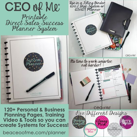 Direct Sales Party Plan Printable Success Planner System - Get all Five Designs for the Price of 1 now!