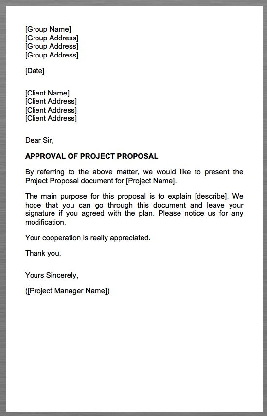 Project Proposal Cover Letter Group Name Group Address Group - master electrician resume