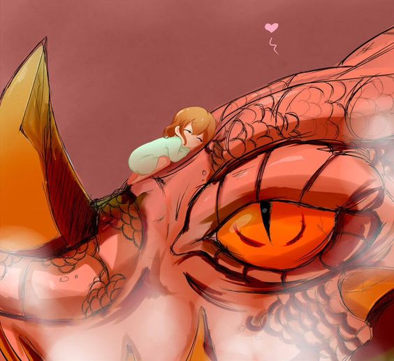 Girl with dragon.