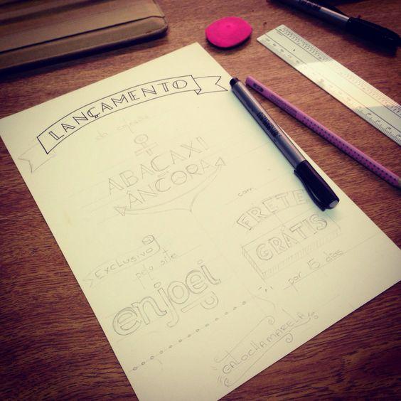 Lançamento #Lettering #letter #callygraphy #typography #tipografia #handmade #fonts #sketchbook #handlettering