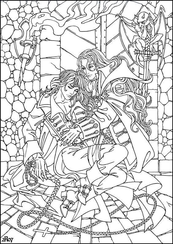 Alucard And Wounded Richter By Candra Coloring Pages Monster Coloring Pages Star Coloring Pages