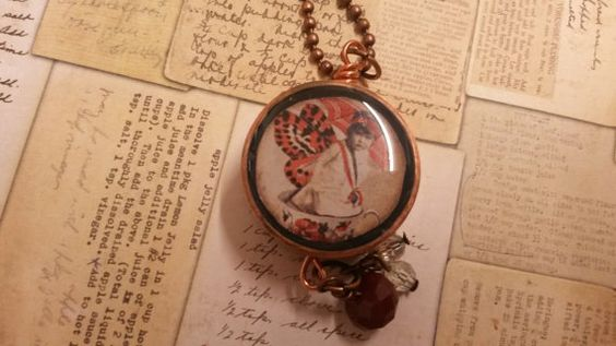 Copper pipe resin fairy necklace by NewmansJules.