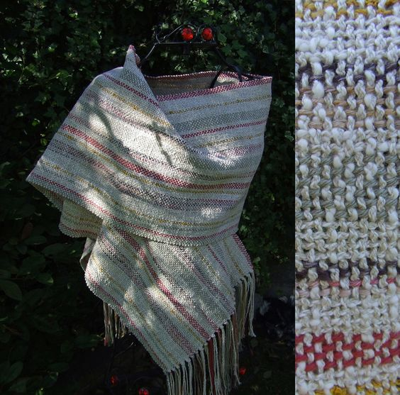 Linen Handwoven Multi-Stripe Wrap - Scarves, Wraps & Accessories - The Crafty Cailín