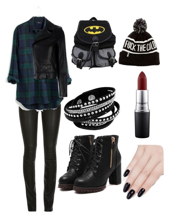 """""""Winchester Style"""" by andreea-pug ❤ liked on Polyvore featuring Madewell, Yves Saint Laurent, MAC Cosmetics and ncLA"""