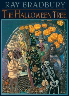 "The Halloween Tree by Ray Bradbury. A group of children and a ""spirit"" go back through time to discover the beginnings of Halloween."