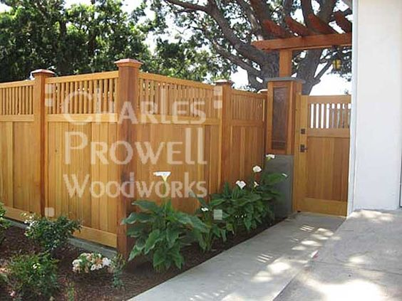 Wood Fence Designs For Front Yards : Privacy fence for front yard idea. I need a fortress