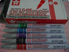 Outliner paint markers- used with Painter's markers...it took your designs up a notch!