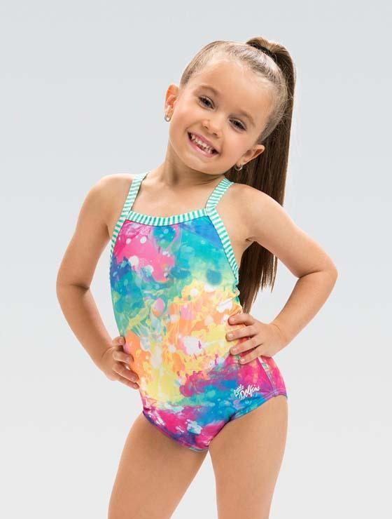 Girls swimming suits Swimwear rainbow Bathing suit Bikini Toddlers  O40