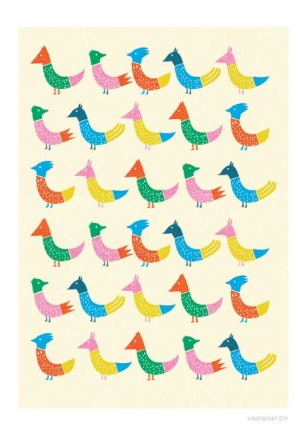 Peacock and Friends Print | Little Paper Planes