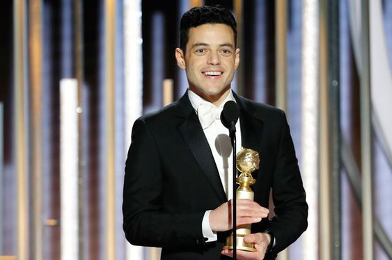 "Rami Malek from ""Bohemian Rhapsody"" accepts the Best Actor in a Motion Picture"