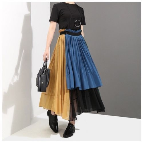 gorgeous pleated colorful steampunk tiered layered removable panel skirt c38 ebay