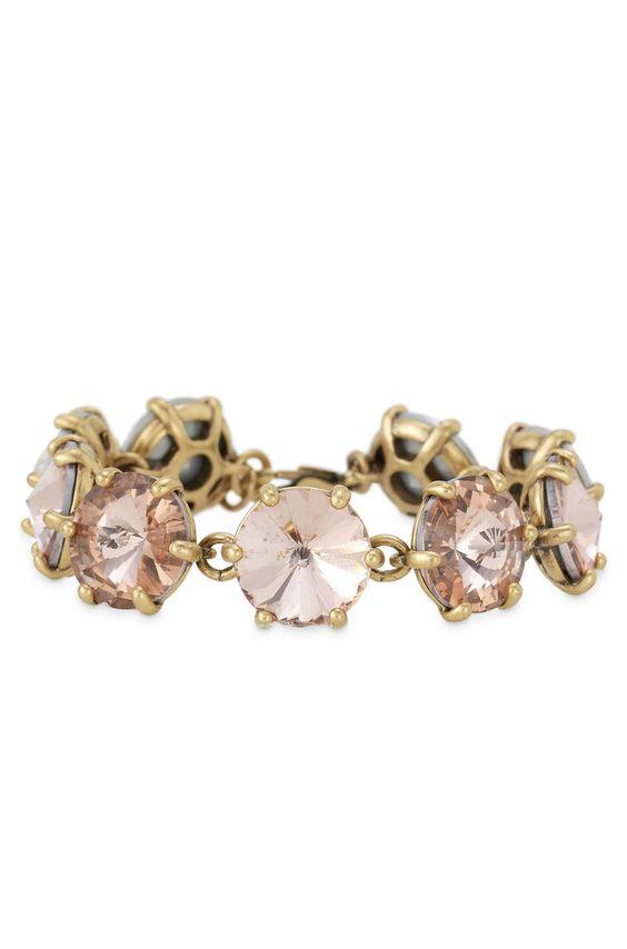 Stella & Dot Peach Amelie Sparkle Bracelet: