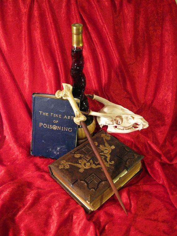 Femur Bone-hilted Magic Wand - 15.5'' prop magic wand for costume or curiosity cabinet. $50.00, via Etsy.