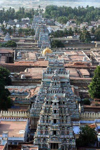 Srirangam Temple  This temple is glorified in the Divya Prabandha, the early medieval Tamil literature canon of the Alvar saints from the 6th–9th centuries CE and is dedicated to Vishnu.  It is one of the most illustrious temples in India.