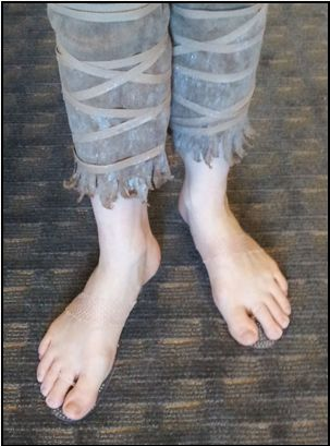 DYI invisible shoes for bare-foot costumes