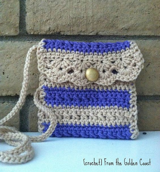 Crochet Cross Body Small Shoulder Bag by CrochetFTGC on Etsy