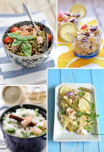 Leichtes für heiße Tage: Sommerliche Salate mit Reis, hier gibt's die Rezepte: http://www.gofeminin.de/kochen-backen/sommer-salate-mit-reis-und-co-d58795.html
