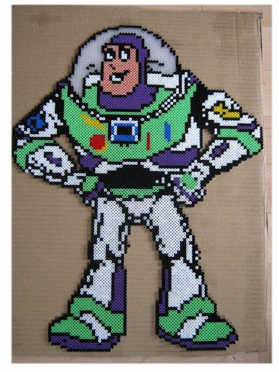 Buzz Lightyear Toy Story hama beads by perleshama30